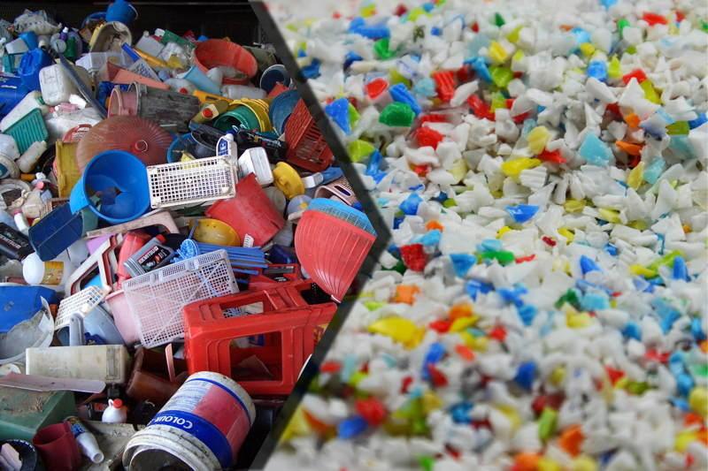Reciclaje de plásticos. Foto: Internet