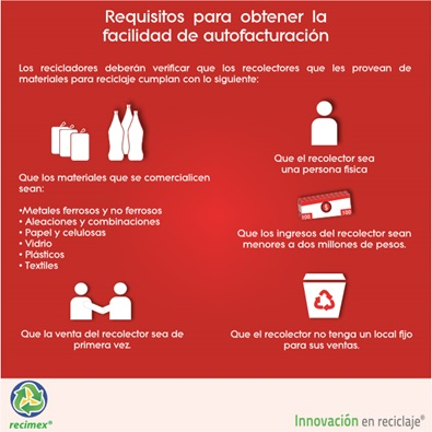 Requisitos para usar el regimen de  autofacturación